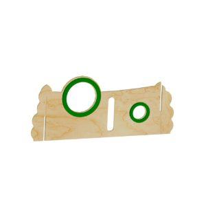 Paneel rechts plexiglas-sleuf