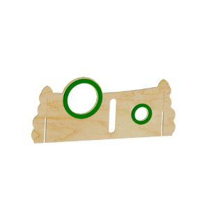 Paneel achter plexiglas-sleuf
