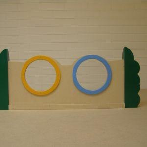 Box paneel plexiglas duo 120cm