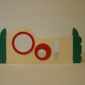Box paneel plexiglas-sleuf 120cm