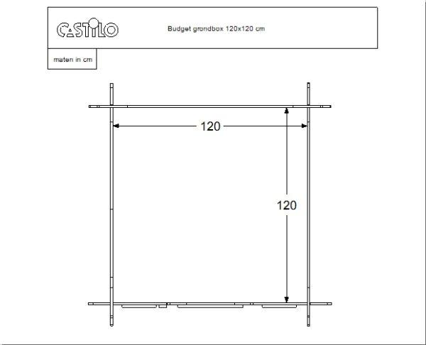 Budget grondbox 120x120 cm