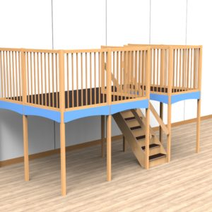 Oldschool speelwerkverdieping trap midden 01