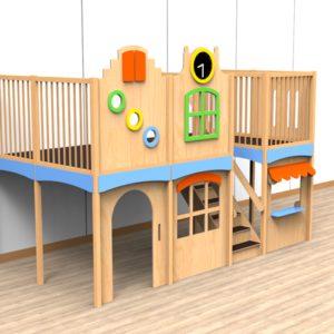 Oldschool speelwerkverdieping trap midden 02