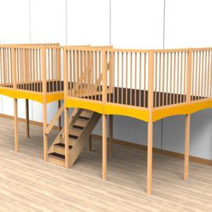 Oldschool speelwerkverdieping trap midden 03