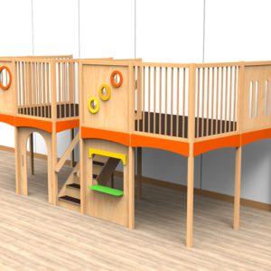Oldschool speelwerkverdieping trap midden 04