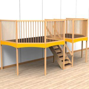 Oldschool speelwerkverdieping trap midden 05