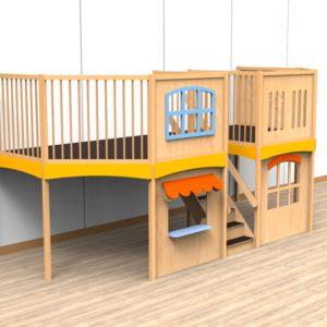 Oldschool speelwerkverdieping trap midden 06