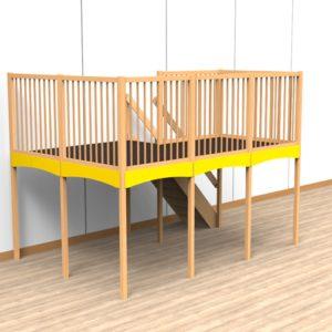 Oldschool speelwerkverdieping trap rechtsachter 01