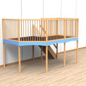 Oldschool speelwerkverdieping trap rechtsachter 05