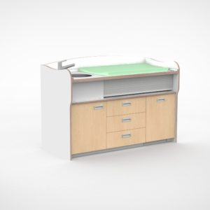 Commode 180cm meeliftend sanitair 3 lades