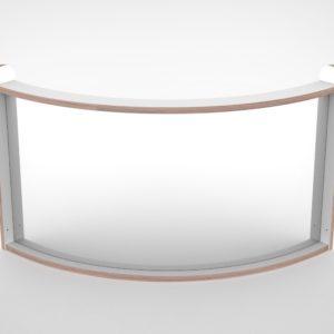 Wave paneel grote bocht plexiglas